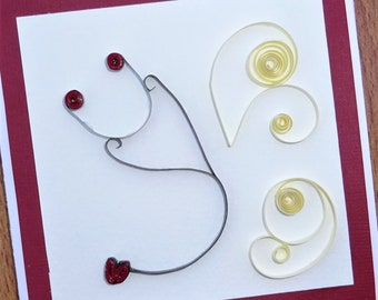 Nurse quilled greeting card