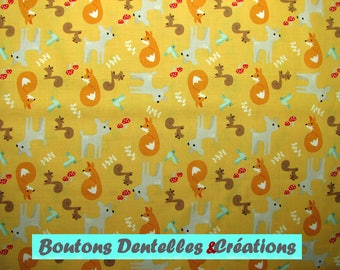 Fabric by Riley Blake - Fox - Fawn - squirrel - Hummingbird... Kids fabric