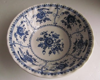 Johnson Bros Indies Pattern Bowl Blue Floral Bowls Delft Blue Bowl 6  Bowls England Blue and White Bowl Johnson Brothers China English China & Fancy Johnson Bros Cloverly Pattern Gravy Boat Antique Green