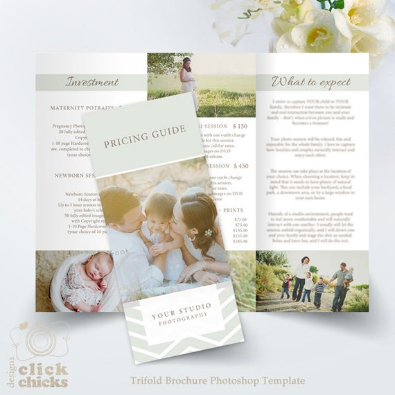 Trifold Brochure Template Studio Welcome Flyer Photography