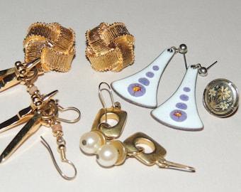 5  Pairs of Costume Earrings Trifari