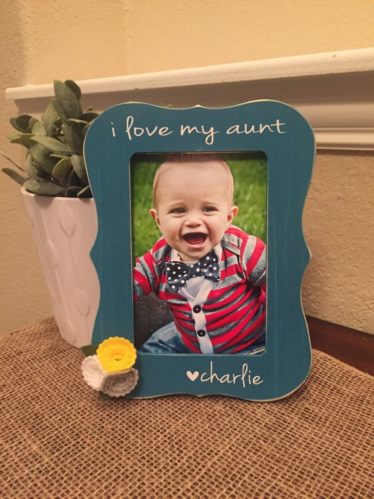 I Love My Aunt Frame Personalized Aunt Auntie Nana Picture Frame ...