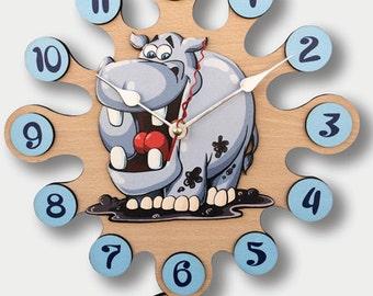 Pendulum Wall Clock Hippo