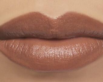 """Nude Brown Lipstick - """"Tenderling"""" natural vegan cosmetics"""