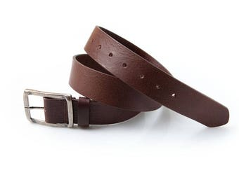 Belt brown leather struck (40mm)