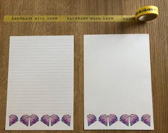Diamond Snail Mail Writing Paper