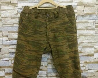 Johnbull Pants Camouflage Tiger Stripes Military Army Pants Rare John Bull Size Small