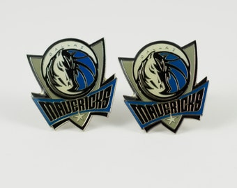 Dallas Mavericks Cuff Links -- FREE SHIPPING with USPS First Class Domestic Mail