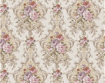 5 SHEETS 21CM X 29 CM each wallpaper  printed on cotton canvas scale 1/6 free shipping