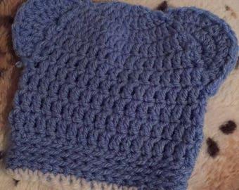 Newborn teddy hat