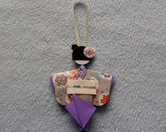 Kokeshi geisha origami Japanese paper 241 decoration