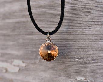 Crystal Birthstone Necklace, Birthstone Choker Necklace, Birthstone Necklace, Swarovski® Crystal Birthstone Necklace, Charm Necklace
