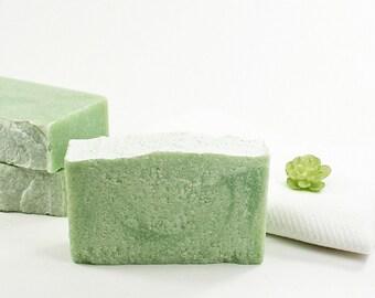 Clean Cotton Salt Soap   Sea Salt Soap, Cold Process Soap, Fresh Clean Scent, Natural Skincare, Relaxation Gift, Women Men Kids Bath Soap
