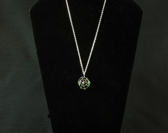 Spider's web necklace