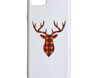Deer Silhouette Phone Case, Black And Red