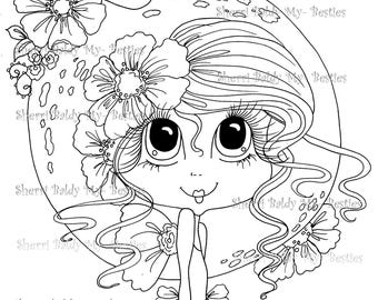 INSTANT DOWNLOAD Digital Digi Stamps Big Eye Big Head Dolls Bestie Scan0013  Besties TM By Sherri Baldy