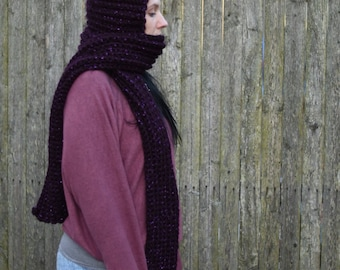 Hooded scarf, scoodie, scarf, hat