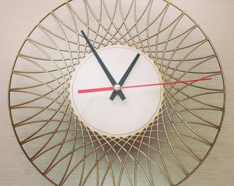 Laser cut Wall Clock, Laser Cutting Wood Clock, Modern Design Laser Cut Clock, Parametric Geometric Wall Clock, Unique Clock