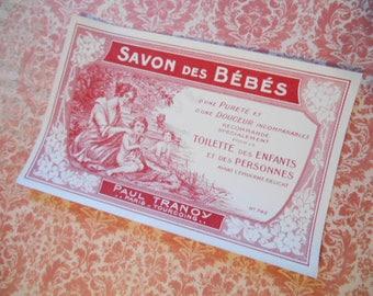 1920s Paris Soap Label Antique Ephemera Paul Tranoy