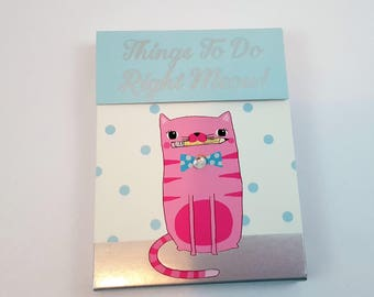 Molly and Rex Mini Notepad Magnet Right Meow