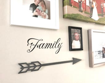 Rustic Metal Arrow Home Decor