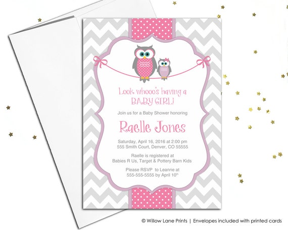 owl best exclusive shower invitations baby wyllieforgovernor