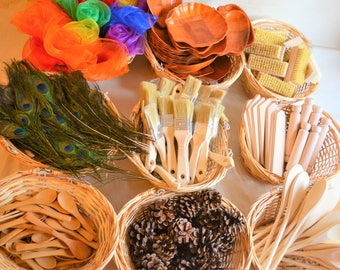 Mixed Montesssori inspired treasure basket refill- 10 sensory rich items