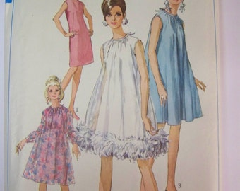 Vintage 1960s Simplicity 7340 Sheath or TENT DRESS   Pattern sz 12 COMPLETE