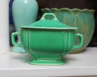Riviera Pottery Covered Sugar Bowl Homer Laughlin Co. 1930 California VINTAGE by Plantdreaming