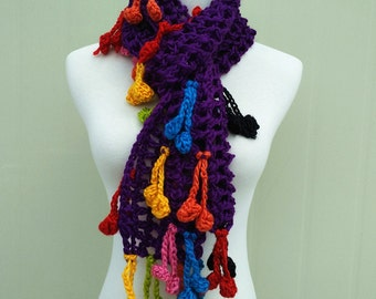 Boho Crochet Scarf