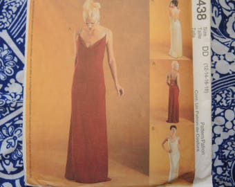 McCalls sewing pattern 3438 misses evening gown UNCUT size 12-14-16-18