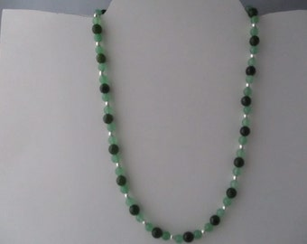 Emerald and Agate Necklace