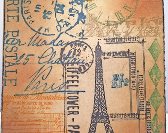 Paris Card//Handmade Card