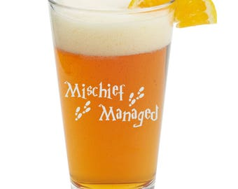 Mischief Managed  Themed Pint Glasses-Beer Glass