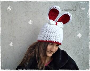Bunny Hat Crochet rabbit Hat Easter Kids bunny Hat Toddler bunny Hat Baby rabbit Hat Newborn Photo Prop Newborn Bunny Hat Baby Shower Gift