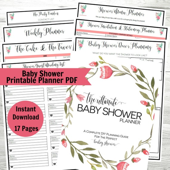 Baby Shower Planner Printable Baby Shower PDF Party Planner