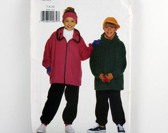 Butterick Pattern 5099, Girls' and Boys' Jacket, Pants, Cap, Headband, Size 7-10 Uncut, Girl and Boy Hats, Winter Coat, Easy Sewing Pattern