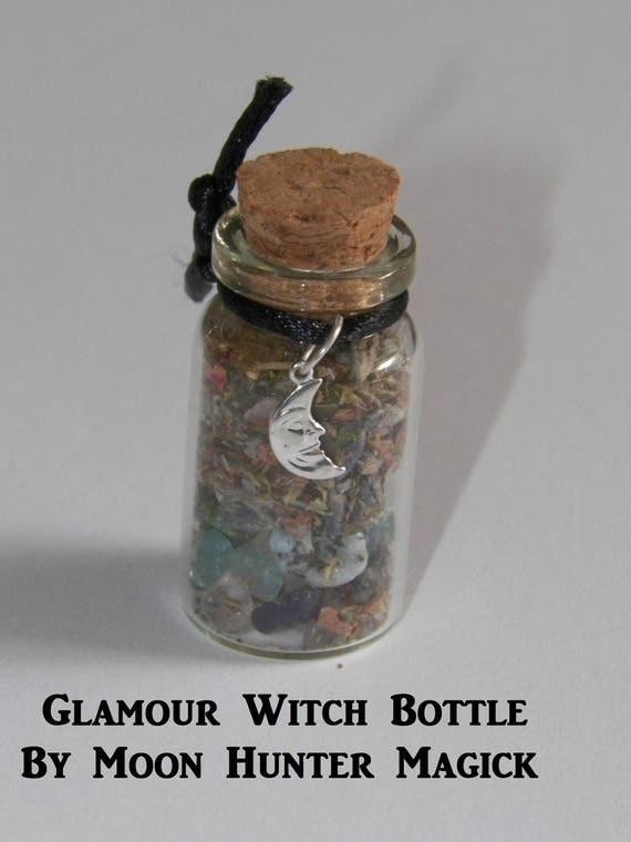 Glamour Illusion Witch Bottle Hand Made Herbal Blend Ritual Supply