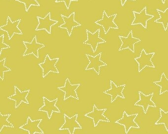 Stella - Stars in Citrus - Yellow Gold Star Cotton Quilt Fabric - by Lotta Jansdotter for Windham Fabrics - 40692-2 (W4203)