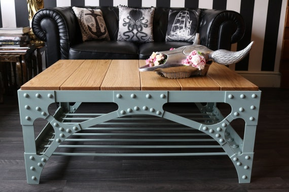 Good Industrial Coffee Table Deluxe Industrial Steampunk Style