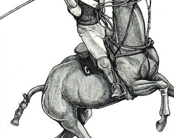 POLO PONY extreme Game Horse Art