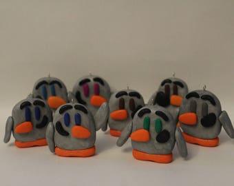 Ornament= RANDOM Penguin -Polymer Clay-