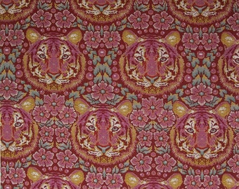 CROUCHING TIGER in Tourmaline  PWTP077 - Tula Pink  Eden - Free Spirit Fabric - By the Yard