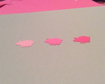 300 Hand Punched PIGS You choose shade of pink 1 inch for Confetti, Birthday baby,Invitations,scrapbooking,