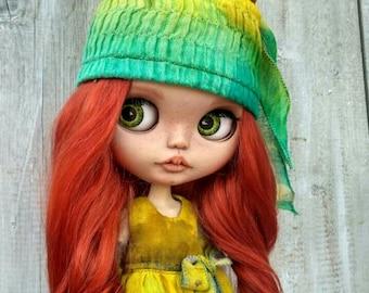 Mirel Blythe doll OOAK doll Custom Blythe doll mohair weft Blythe custom ooak