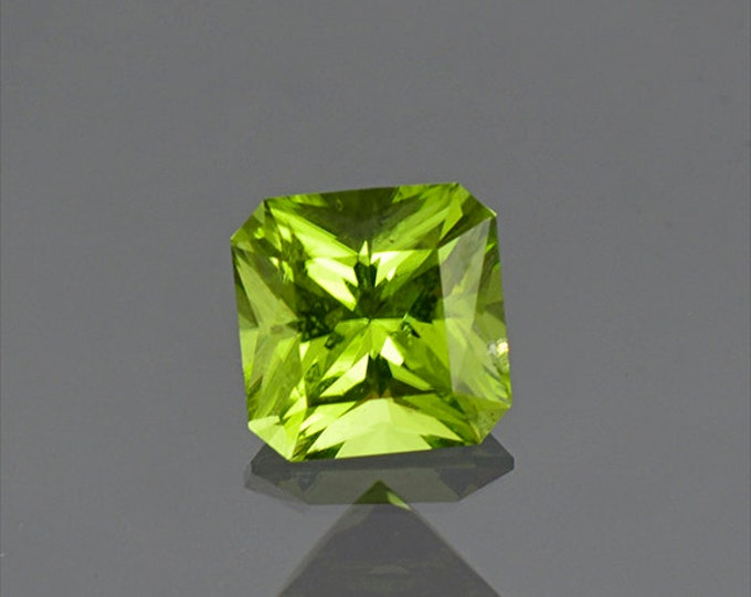 Lovely Lime Green Peridot Radiant Asscher Cut from Ethiopia 1.74 cts.