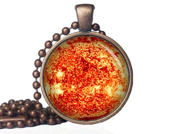 Solar Pendant - Sun Pendant - Solar Amulet - Sun Necklace - Solar Necklace - Solar Jewelry - Sun Jewelry - Sol Pendant -Sun Amulet -Sol Gift
