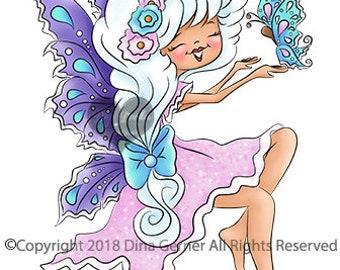 Shae Meadow Breeze Digi Doodles Fairy Digi Stamp