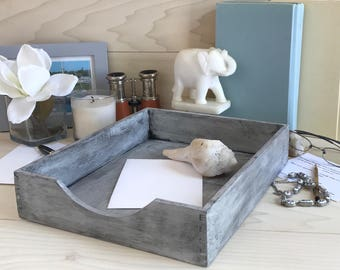 Distressed Letter Tray (White)