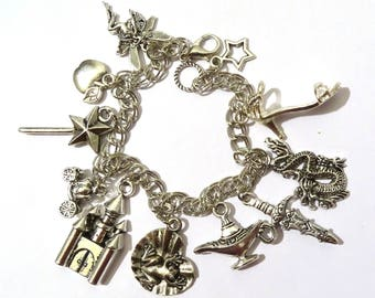 Bangle Charms Fairy Tales Fantasy Cinderella White Snow